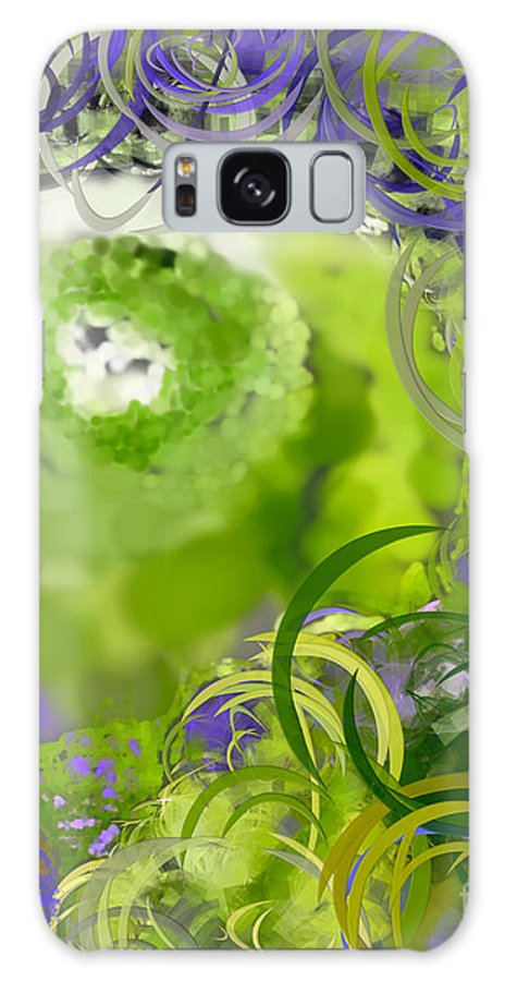 Eyes Galaxy S8 Case featuring the digital art The Eyes Have It Green by Holley Jacobs