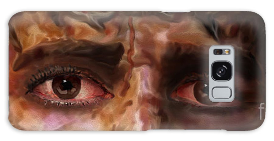 The Fire Of Love In Jesus' Eyes Galaxy S8 Case featuring the painting The Eyes Of Eternal Love by Todd L Thomas