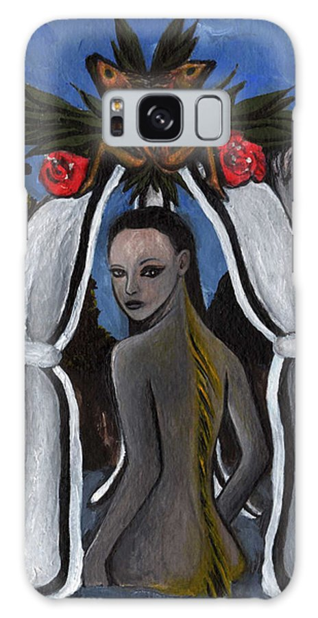 Mermaid Galaxy S8 Case featuring the painting The Fable Of The Fish by Ayka Yasis