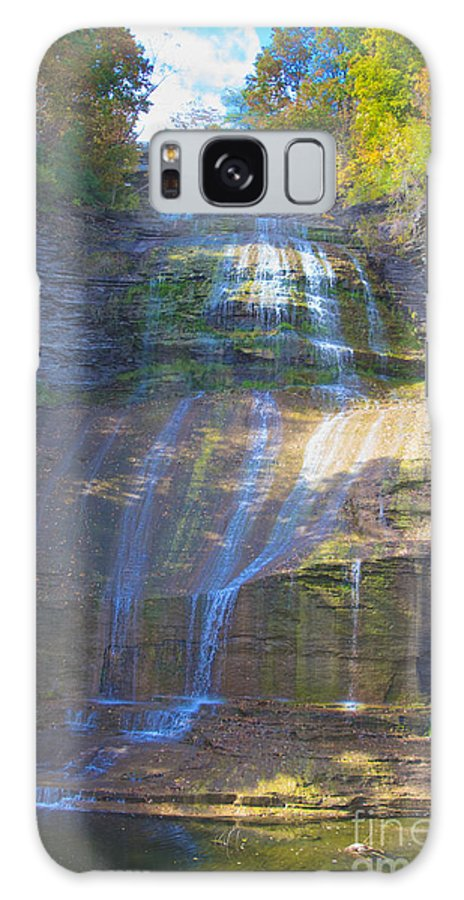 Limestone Galaxy S8 Case featuring the photograph The Falls by William Norton