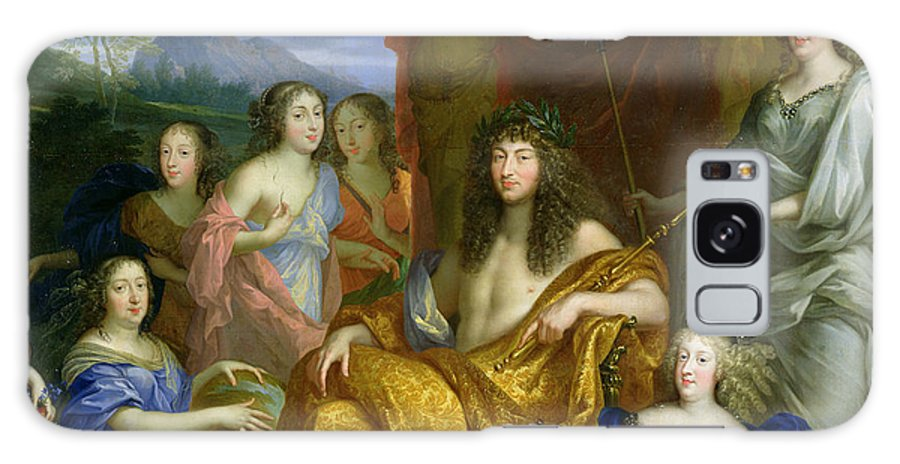 Louis Xiv As Apollo Galaxy S8 Case featuring the photograph The Family Of Louis Xiv 1638-1715 1670 Oil On Canvas Detail Of 60094 by Jean Nocret