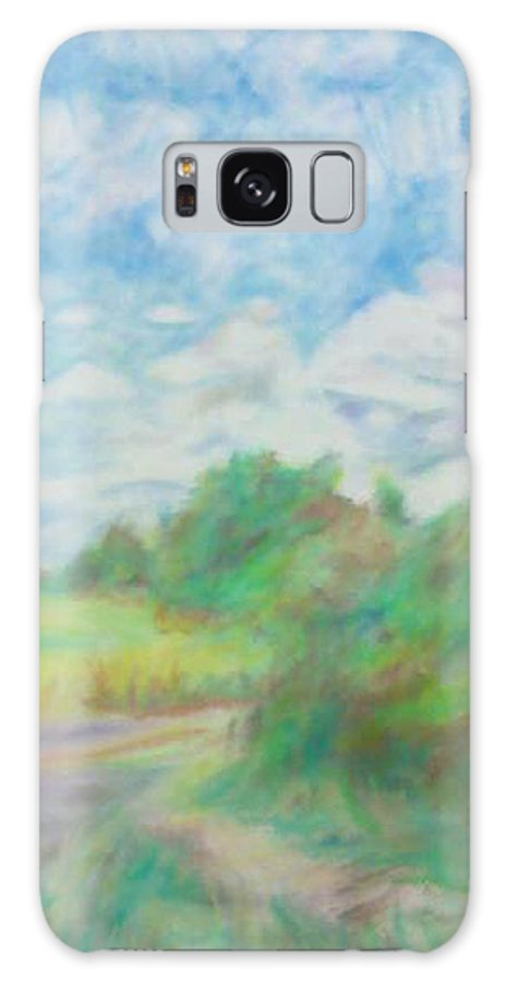 Landscape Galaxy S8 Case featuring the pastel The Field by Kim Cyprian