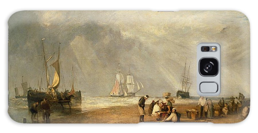 1810 Galaxy S8 Case featuring the painting The Fish Market At Hastings Beach by JMW Turner