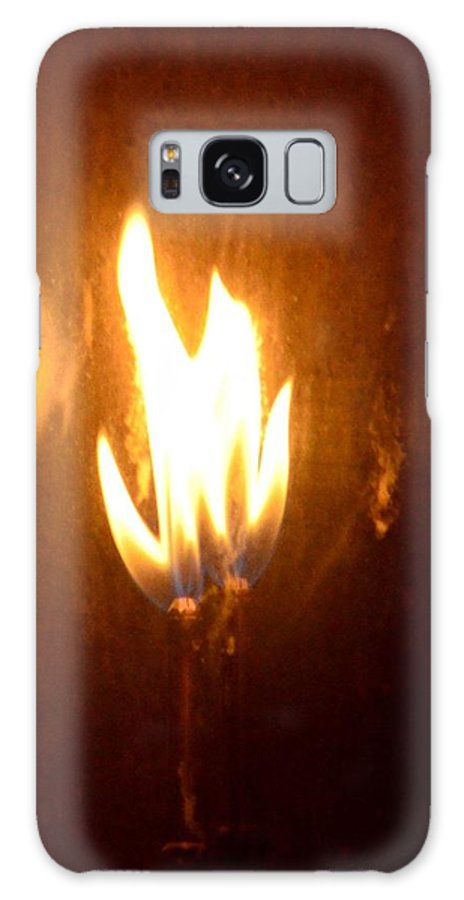 The Flame Galaxy S8 Case featuring the photograph The Flame by Maria Urso