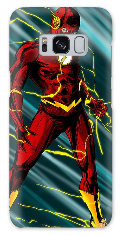 The Flash Galaxy S8 Case featuring the digital art The Flash by Alexiss Jaimes
