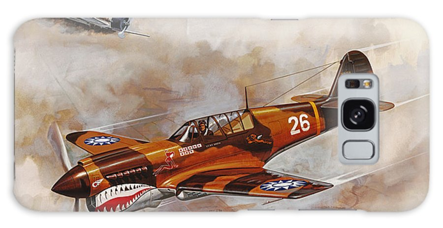 Aircraft Galaxy S8 Case featuring the painting The Flying Tigers by Dick Bobnick