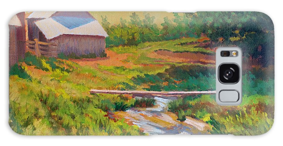 Impressionism Galaxy Case featuring the painting The Foot Bridge by Keith Burgess