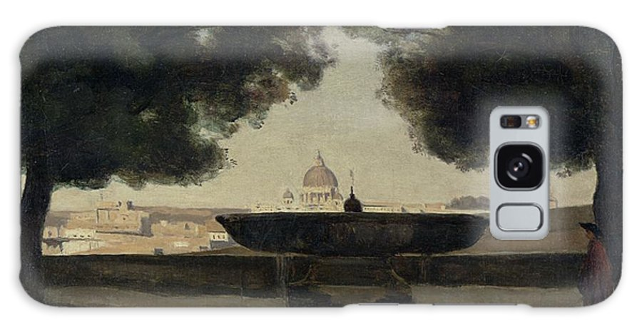 Basin Galaxy S8 Case featuring the photograph The Fountain Of The French Academy In Rome, 1826-27 Oil On Canvas by Jean Baptiste Camille Corot