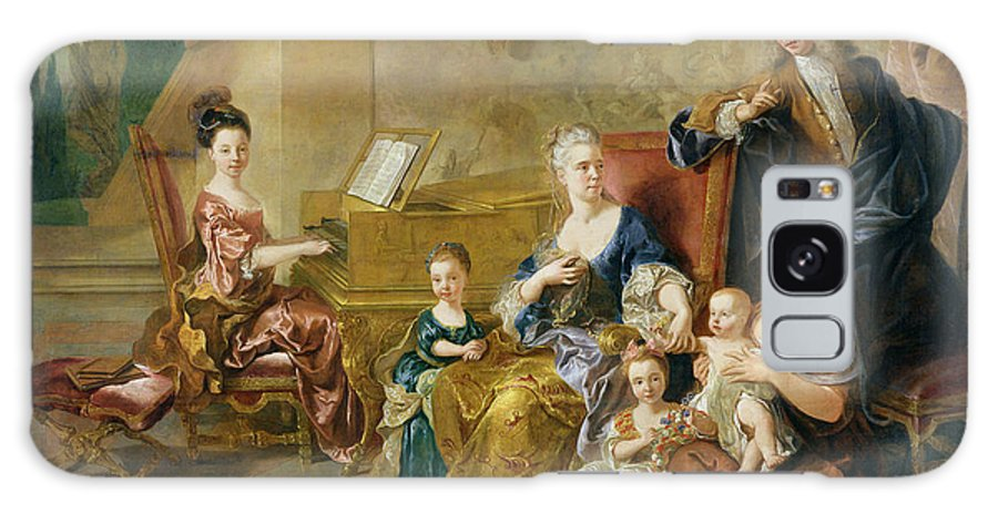 La Famille De Franqueville Galaxy S8 Case featuring the photograph The Franqueville Family, 1711 Oil On Canvas by Francois de Troy