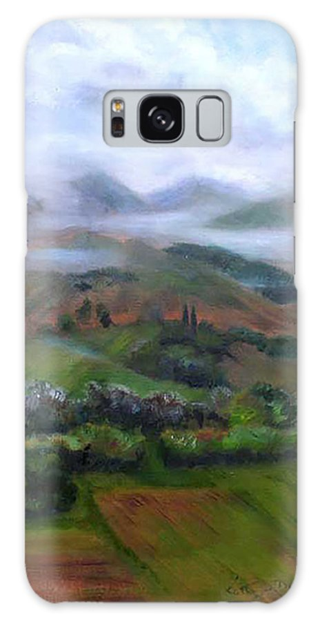 Misty Galaxy S8 Case featuring the painting The French Pyrenees by Kathryn Dalziel