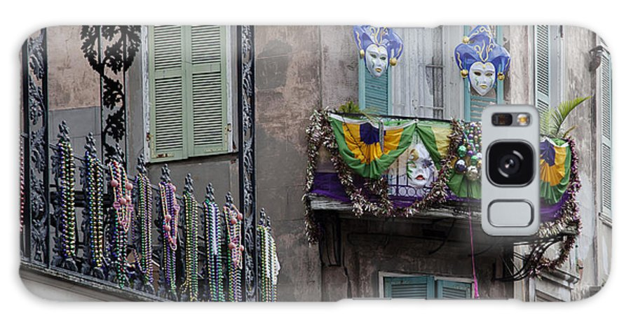 Mardi Gras Galaxy S8 Case featuring the photograph The French Quarter During Mardi Gras by Mountain Dreams