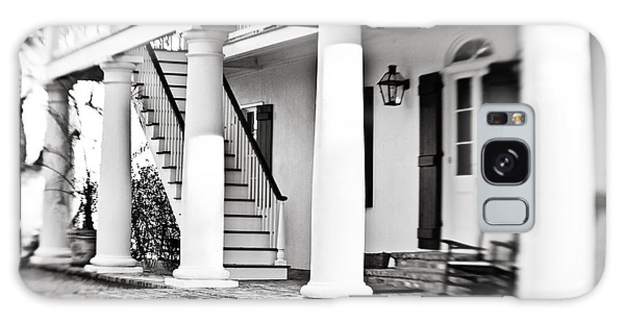 Porch Galaxy S8 Case featuring the photograph The Front Porch - Bw by Scott Pellegrin