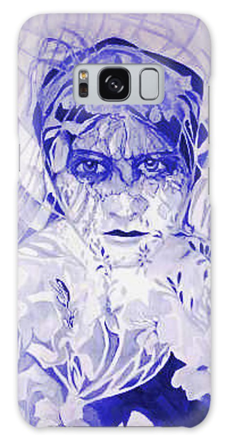 Women Galaxy Case featuring the painting The Garden Spider by Carolyn LeGrand