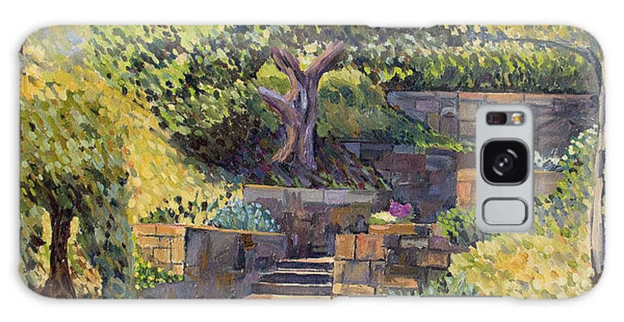 Impressionism Galaxy S8 Case featuring the painting The Garden Stairs by Don Perino