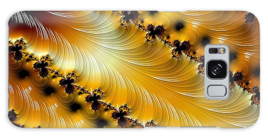 Fractal Galaxy S8 Case featuring the photograph The Golden Flow by Terry Cobb