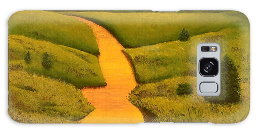 Creek Galaxy S8 Case featuring the painting The Golden Hour by Garry McMichael