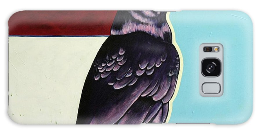 Wildlife Galaxy Case featuring the painting The Gossip - Raven by Joe Triano