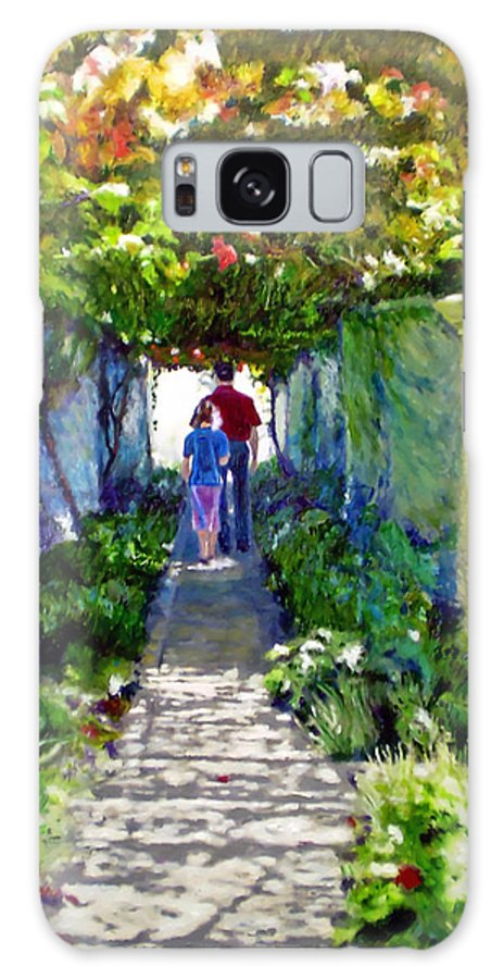 Vineyard Galaxy S8 Case featuring the painting The Grape Trellis by Michael Durst