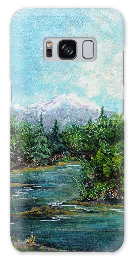 Landscape Galaxy S8 Case featuring the painting The Great Outdoors by Walter Carrick