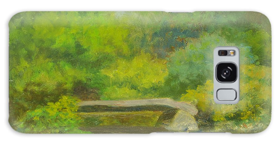 Landscape Galaxy S8 Case featuring the painting The Greens Of Summer by Phyllis Tarlow