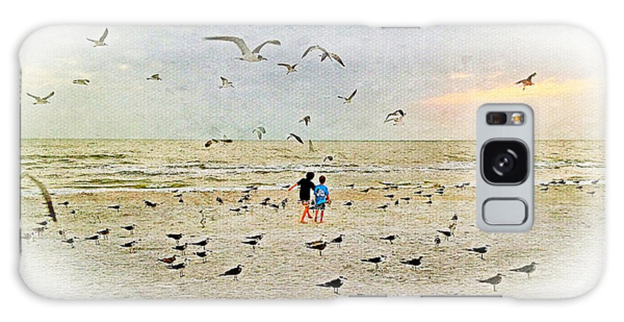 Iphoneography Galaxy S8 Case featuring the photograph The Gulls by Carl Clay