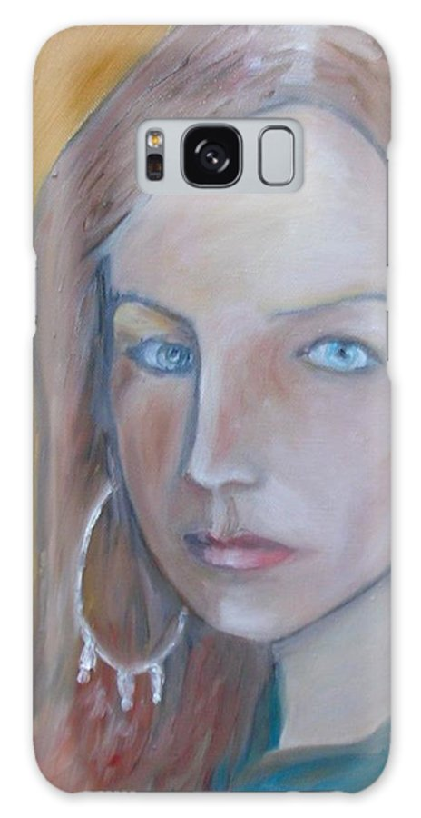 Portraiture Galaxy Case featuring the painting The H. Study by Jasko Caus