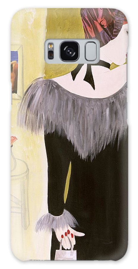 Female Galaxy S8 Case featuring the photograph The Handbag, 2004 Acrylic With Collage On Paper by Susan Adams