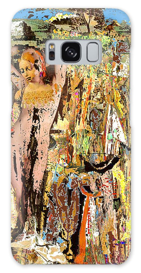 Modern Art Galaxy S8 Case featuring the digital art The Harvest by Delio Paradise