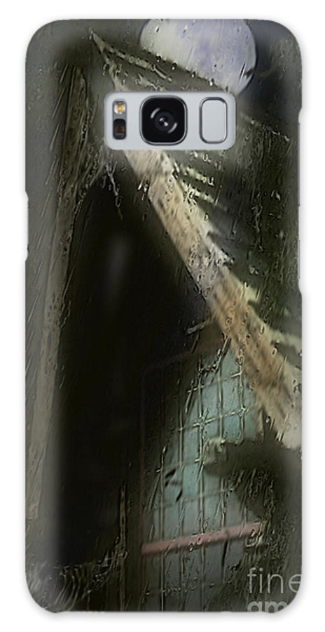House Galaxy S8 Case featuring the painting The Haunted Gable by RC DeWinter
