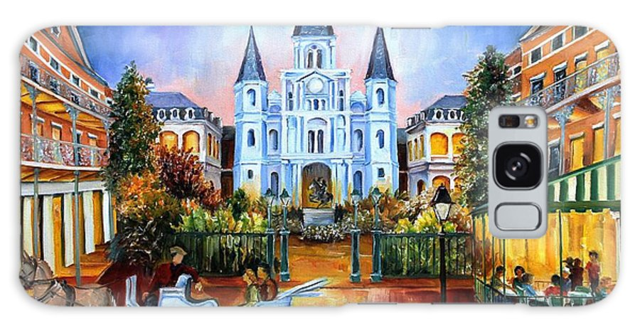 New Orleans Galaxy S8 Case featuring the painting The Hours On Jackson Square by Diane Millsap