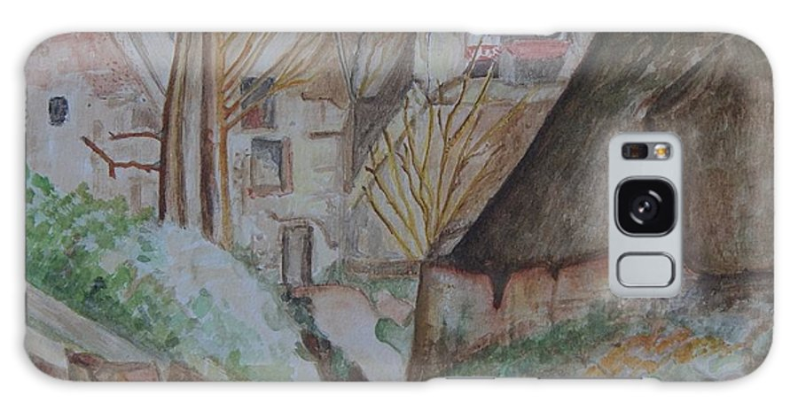 La Maison You Pendu Auvers-sur Oise After Cezanne Galaxy S8 Case featuring the painting The House Of The Hanged Man After Cezanne by Caroline Street