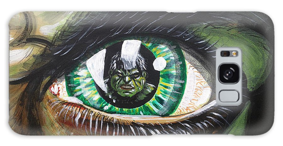 The Hulk Galaxy S8 Case featuring the painting The Hulk by Danny Anderson
