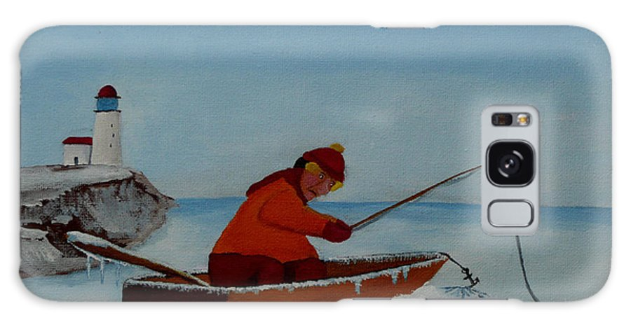 Stupid Galaxy Case featuring the painting The Ice Fisherman by Anthony Dunphy