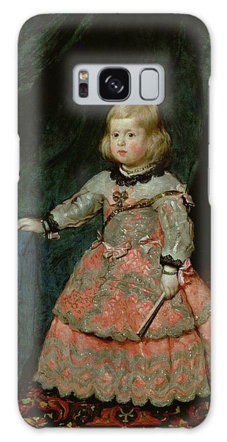 Portrait Galaxy S8 Case featuring the photograph The Infanta Margarita Teresa Of Spain In A Red Dress, 1653 Oil On Canvas by Diego Rodriguez de Silva y Velazquez