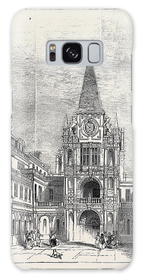 Inner Galaxy S8 Case featuring the drawing The Inner Court, Burghley by English School