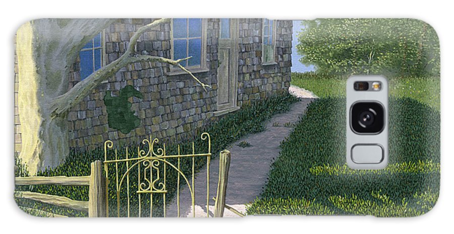 Old Farm Galaxy S8 Case featuring the painting The Iron Gate by Gary Giacomelli