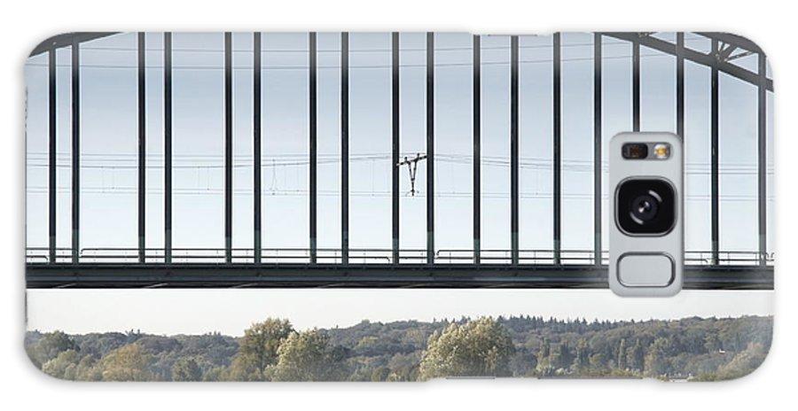 Iron Galaxy S8 Case featuring the photograph The Iron Railway Bridge Over The Rhine At Arnhem Netherlands by Ronald Jansen