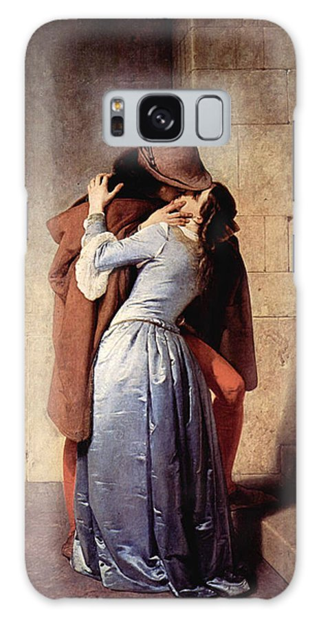 Art Errors Galaxy S8 Case featuring the digital art The Kiss 1859 by Francesco Hayez
