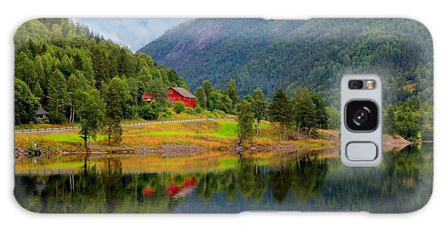 Discount Galaxy S8 Case featuring the photograph The Lake House Norway by Julia Fine Art And Photography