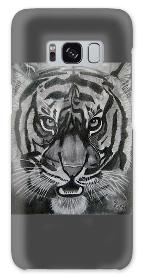 Tiger Galaxy S8 Case featuring the drawing The Legend by Ravi Kiran Boggarapu