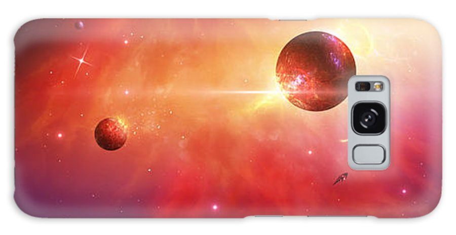 The Creation Of An Universe. Galaxy S8 Case featuring the digital art The Light by Susan Gerardi