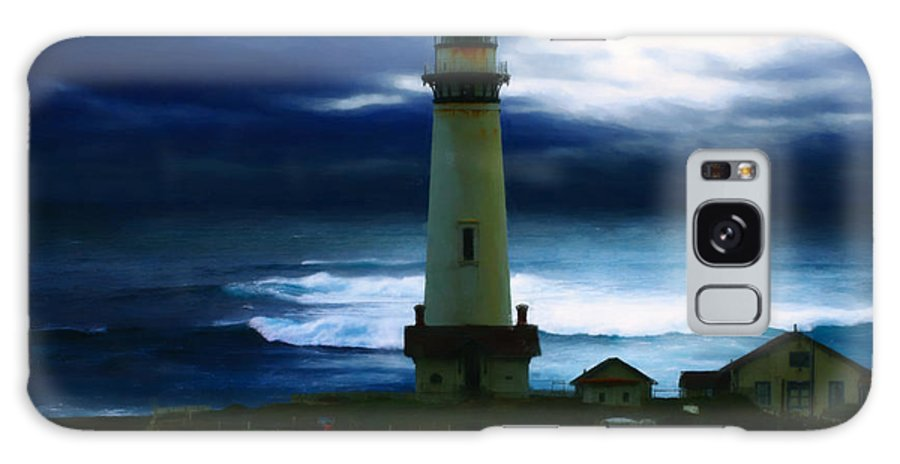 Lighthouse Galaxy S8 Case featuring the painting The Lighthouse by Cinema Photography