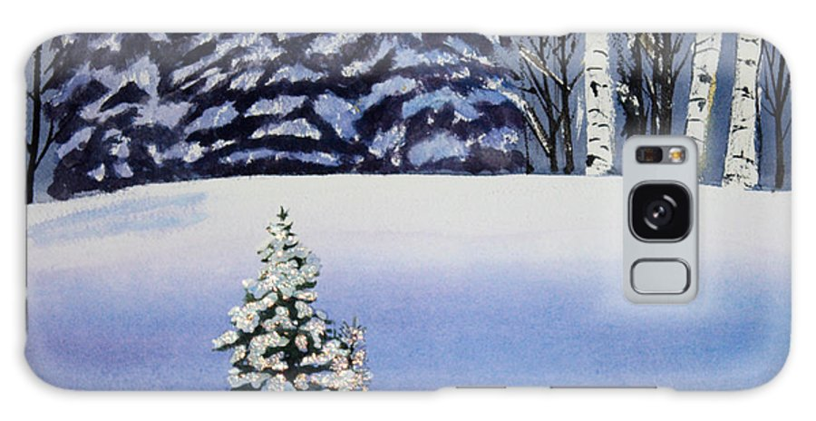 Christmas Galaxy S8 Case featuring the painting The Lone Christmas Tree by Patricia Novack