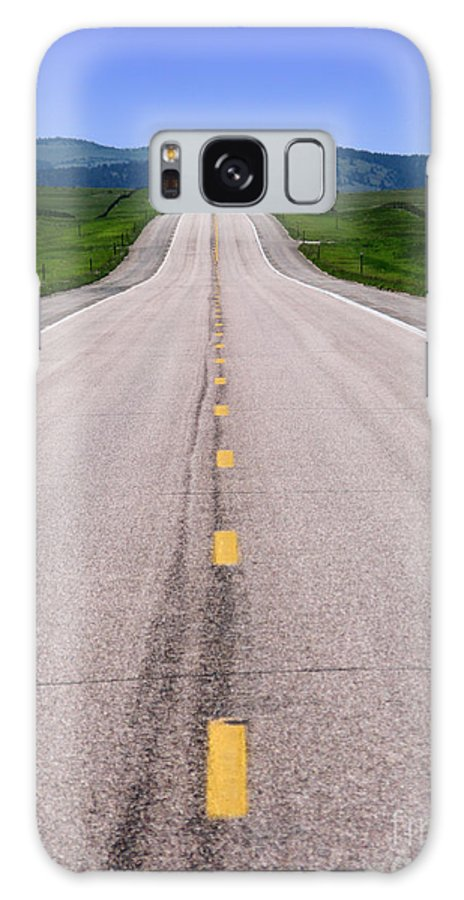 Road Galaxy S8 Case featuring the photograph The Long Road Ahead by Olivier Le Queinec