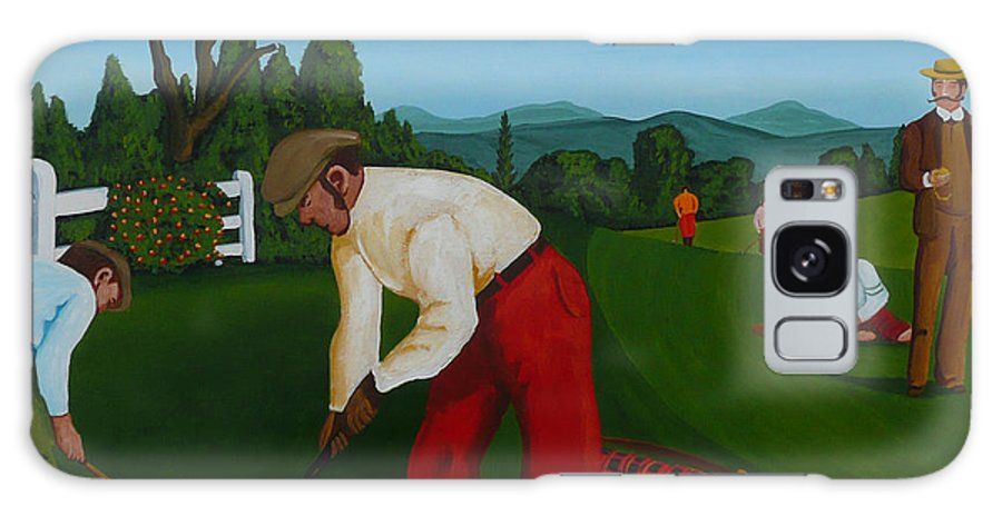 Golf Galaxy S8 Case featuring the painting The Lost Ball by Anthony Dunphy