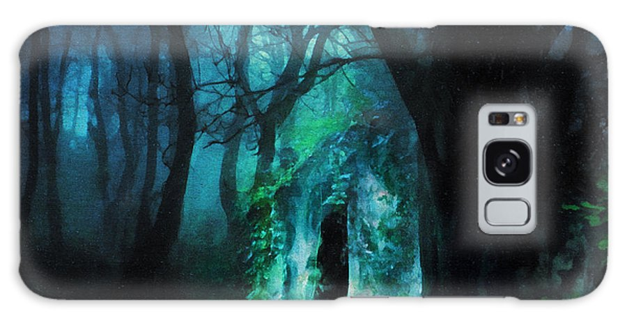 The Lovers Cottage By Night Galaxy S8 Case featuring the digital art The Lovers Cottage By Night by Georgiana Romanovna