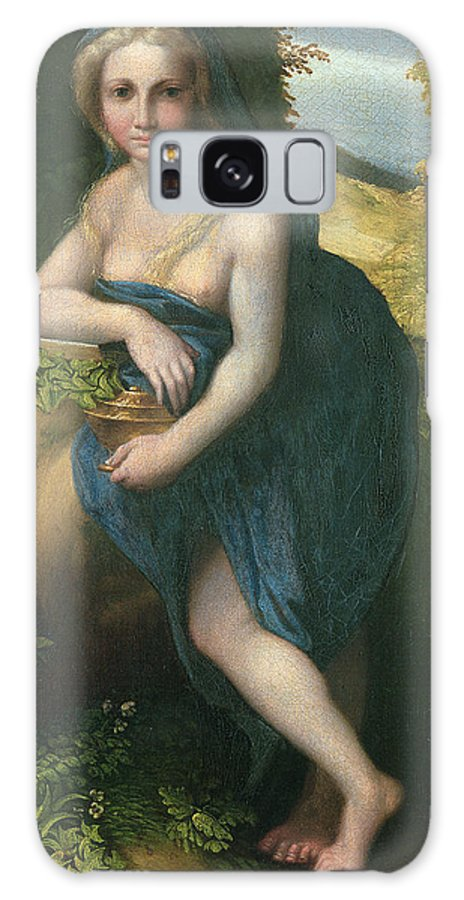 Nude Galaxy S8 Case featuring the photograph The Magdalene, C.1518-19 Oil On Canvas by Correggio