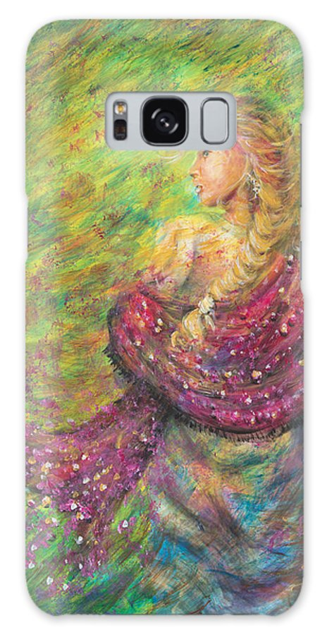 Lady Galaxy Case featuring the painting The Magdelene by Nik Helbig