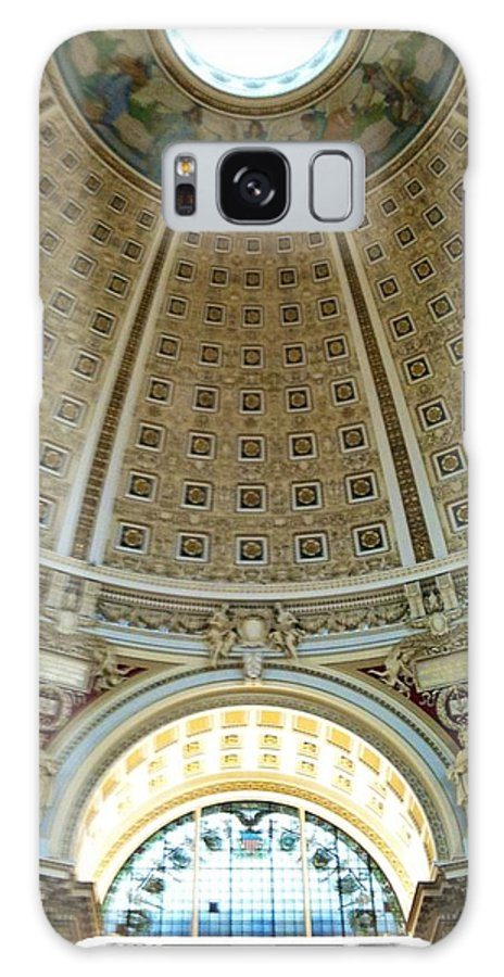 Dome Galaxy S8 Case featuring the photograph The Main Reading Room Library Of Congress by Lois Ivancin Tavaf