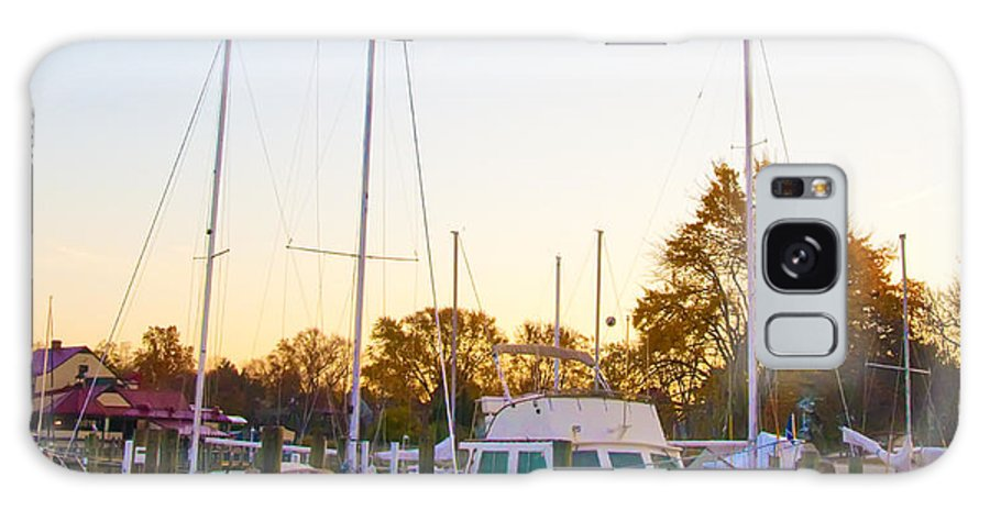 Marina Galaxy S8 Case featuring the photograph The Marina At St Michael's Maryland by Bill Cannon